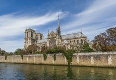 Notre Dame大教堂-巴黎 免版税库存图片