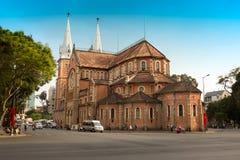 Notre Dame大教堂-最大的罗马天主教堂在越南 免版税图库摄影