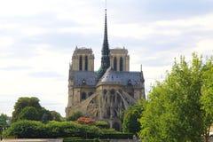 Notre Dame大教堂de巴黎,法国 免版税库存照片