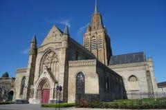 Notre Dame教会在加来 图库摄影
