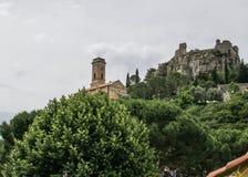 Notre Dame教会在埃兹,法国 免版税库存照片