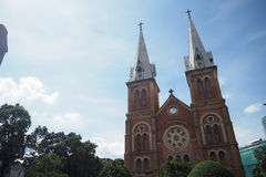 Notre Dame教会在越南 免版税库存图片