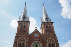 Notre Dame教会在越南 库存照片