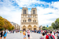 Notre Dame教会在巴黎 免版税库存照片