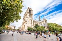 Notre Dame教会在巴黎 库存图片
