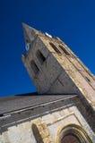 Notre Dame教会belltower在拉格拉夫,法国 免版税库存照片
