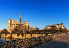 173 - Notre Dame桥梁  图库摄影