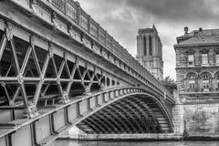 Notre Dame桥梁,巴黎,法国,欧洲 库存照片