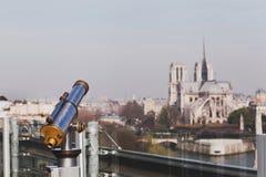 Notre Dame看法  库存照片