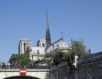 Notre Dame,巴黎,法国大教堂  免版税库存图片