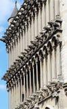Notre Dame,第茂,法国教会的面貌古怪的人  图库摄影