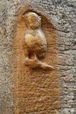 Notre Dame,第茂,法国教会雕刻的猫头鹰  库存照片
