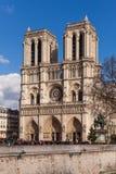 Notre Dame,著名天主教,旅游业地标在巴黎法国 图库摄影