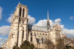 Notre Dame,著名天主教,旅游业地标在巴黎法国 库存照片