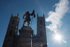 Notre Dame,蒙特利尔,魁北克 库存照片