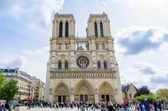 Notre-Dame Ρωμαίος - καθολικός καθεδρικός ναός στο Παρίσι Γαλλία Στοκ εικόνες με δικαίωμα ελεύθερης χρήσης