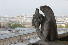 Notre Dame του Παρισιού, δαίμονας Στοκ φωτογραφία με δικαίωμα ελεύθερης χρήσης