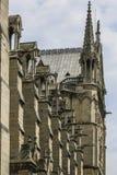Notre Dame του Παρισιού, Γαλλία, πέτρα gargoyles στοκ φωτογραφία με δικαίωμα ελεύθερης χρήσης