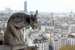 Notre Dame του Παρισιού, διάσημη όλων των χιμαιρών Στοκ Φωτογραφία