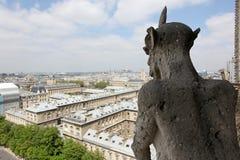 Notre Dame του Παρισιού, διάσημη όλων των χιμαιρών, Στοκ Εικόνα