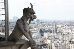 Notre Dame του Παρισιού, διάσημη όλων των χιμαιρών Στοκ Φωτογραφίες