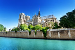 Notre Dame巴黎,法国 库存图片