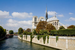 Notre Dame. The Notre Dame is one of Paris famous historical monuments stock photography