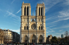 Notre Dame. In autumn light in Paris, France Stock Images