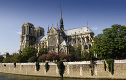 Notre-Dame. The Notre-Dame cathedral in Paris, France Stock Image