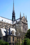 Notre Dame. Side View of Notre Dame Cathedral royalty free stock photography