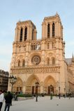 Notre dame. Cathedral in Paris on a blue sky Royalty Free Stock Photo
