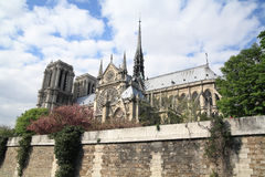 Notre Dame. Cathedral of Notre Dame in Paris shot from the river Royalty Free Stock Photos