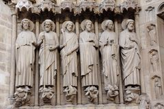 Notre Dame achitecture Stock Photography