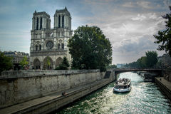 Notre Dame. Amazing Notre Dame cathedral in Paris Stock Photo