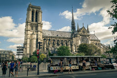 Notre Dame. Amazing Notre Dame cathedral in Paris Stock Photos