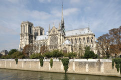Notre Dame at autumn Stock Images