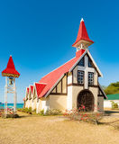 Notre Dame Auxiliatrice church at Cap Malheureux. Royalty Free Stock Images