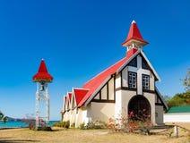 Notre Dame Auxiliatrice church at Cap Malheureux. Stock Images