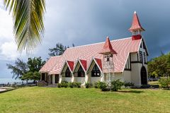 Notre Dame Auxiliatrice Church, Cap Malheureux, Mauritius, Africa royalty free stock photography