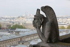 Notre Dame av Paris, demon Royaltyfri Fotografi