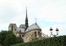 Notre Dame from back royalty free stock photos