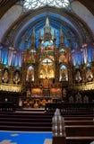 Notre Dame Bascillica Montreal Immagini Stock Libere da Diritti