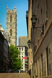 Notre Dame Basilica av Montreal Royaltyfria Foton