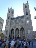 Notre-Dame Basilica Catholic Church in Montreal stock photos