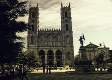 Notre Dame Basilica, em Montreal, Canadá Fotos de Stock