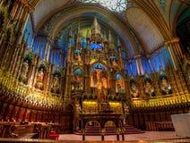 Notre Dame Basilica, interior, Montreal, QC, Canad? imagem de stock royalty free