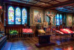 Notre Dame Basilica, interno, Montreal, controllo di qualità, Canada fotografia stock