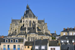 Notre-Dame basilica at Mayenne in France Royalty Free Stock Image