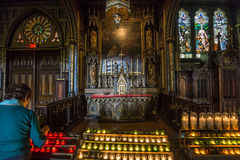 Notre Dame Basilica, Montréal, Québec, Canada images libres de droits