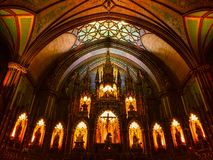 Notre Dame Basilica Montreal image stock